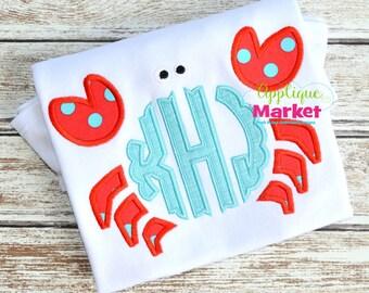 Machine Embroidery Design Applique Crab Claw Monogram INSTANT DOWNLOAD