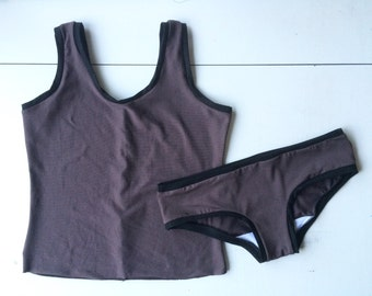 Tank Top Camisole and Underwear Set