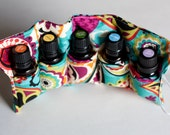 Essential Oil Holder, Bag Insert, Travel Case, Pouch, Carrier -- 5 Pockets