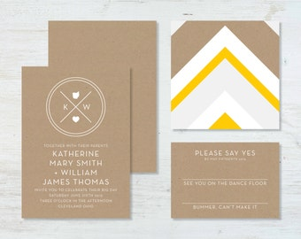 State Monogram (Ohio) Wedding Invitation Suite (deposit)