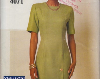 See & Sew women fitted straight dress sz 18-22 sewing pattern 4071