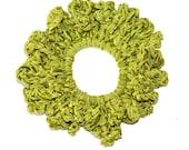 Hair Scrunchie/Ribbon headband/Hair Scrunchies/Ruffle Scrunchie/ribbonScrunchie/olive Scrunchie/Handmade Scrunchie /Gift Under 10