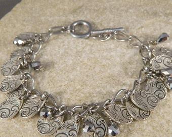 Spiral Drop Charm Bracelet