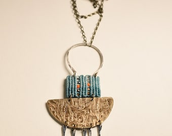 Harlow Necklace with Vintage Trophy Medallion