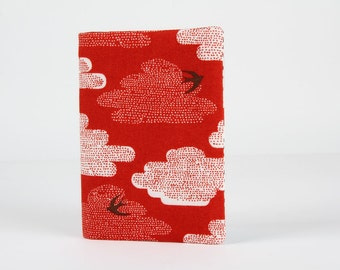 Card holder - Clouds on red
