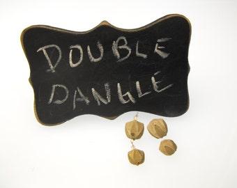 BLASTOID FOSSIL EARRING dangle kit 00597 organic 2 pair 8-12mm primitive chic extinct mini Pentremites Tulipaformis 325 ml yr sea bud shell
