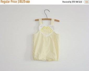 SALE // Vintage Yellow Baby Romper