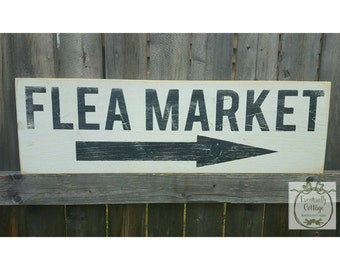 Handpainted Flea Market sign