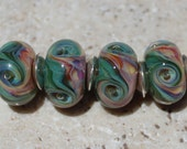 Reserved for Annie:  CHARLOTTE Artisan boro beads by JRG