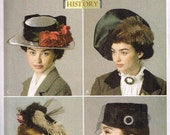 Sewing Pattern Pillbox Style Hat, Tilt Millinery Vintage Styled  Retro 1940s  Butterick 6397  WW2 Making History Downton Abby