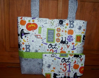 Halloween Purse and Zippered Pouch