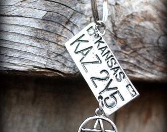 ON SALE Supernatural Inspired KAZ2Y5 license plate keychain
