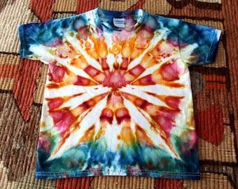 Youth XS Tie Dye T-shirt - Ice Dye - Watercolor Burst - Ready to Ship