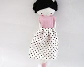 Custom order for Julie ballerina rag doll -size pocket  plush toy cloth art doll