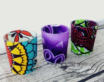 Wedding décor, African wedding, Votive candle, Party, African wedding party x 3