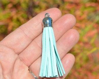 5 Light Blue Tassels SC3174