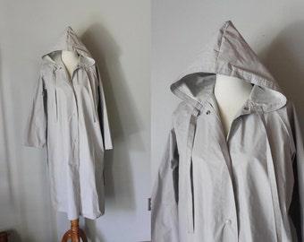 vintage pale grey WEIMARANER rain coat rain slicker