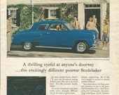 Vintage 1940s 1947 original magazine ad advertisement - Studebaker Champion Regal De Luxe 2-door sedan