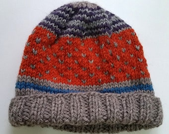 Childs Stripes and Spots Wool Hat