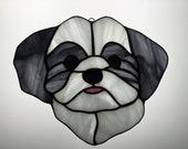 Shih-Tzu Suncatcher in Stained Glass