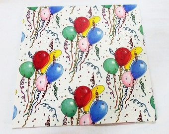 Vintage sunshine bloons birthday party sheet gift wrap paper