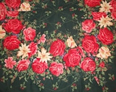 Large Christmas Rose Hexagon Quilted Table Topper