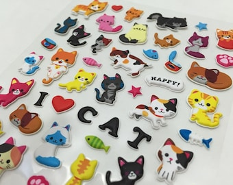 Cute Puffy Stickers - We Love Kitty Cats....Meow...part2