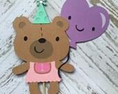Bear Cake Topper- smash cake, first birthday