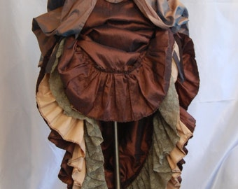 Victorian inspired bodice and skirt steampunk silk and taffeta