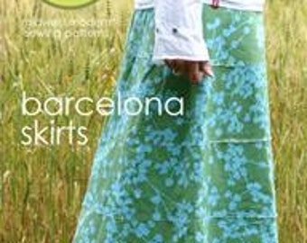 Amy Butler BARCELONA Skirt sizes XS- XL- 3 Style Options Included! Sewing Pattern