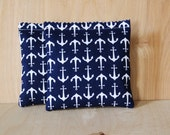 Lavender Bags, Navy Blue & White Anchors, Nautical Bedroom Decor
