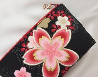 Sakura Cosmetic Purse / Zipper Pouch