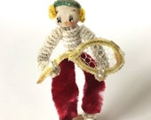 SALE 20% OFF NON-Linens Vintage Figurine Tennis Player Chenille Pipe Cleaner Sports Figure Doll