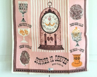 Vintage Towel Dinner is Served NOS New Old Stock George Wright