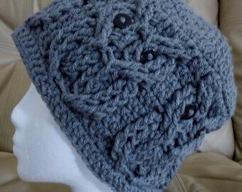 Gray Adult Hoot Owl Hat