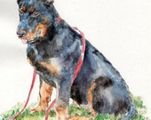 BEAUCERON Original Watercolor on Ink Print Matted 11x14 Ready to Frame
