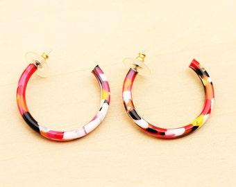 Colorful Vintage Hoop Earrings