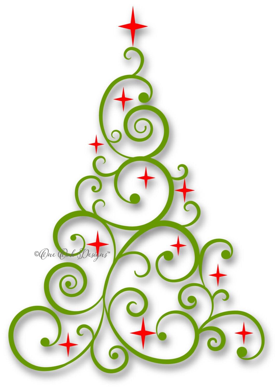 Swirly Tree SVG File PDF / dxf / jpg / png / eps / ai