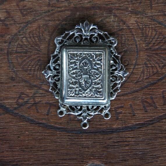 Antique French Art Nouveau Chatelaine Topper Ornate Pendant
