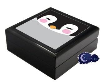 Baby Penguin - Jewelry and Keepsake Box