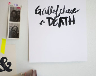 Grilled Cheese Or Death printable