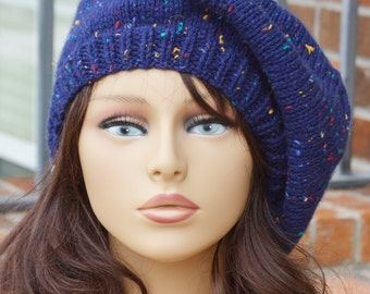 Blue Beret with Sprinkles