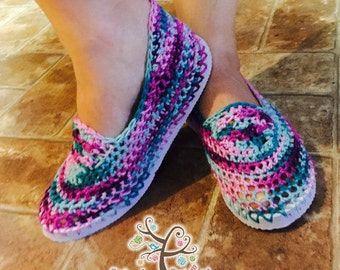 Crochet Flip Flop Sandals / Loafers