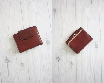 oxblood cowhide wallet