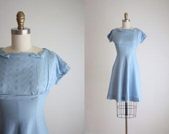 1950s linen bow dress