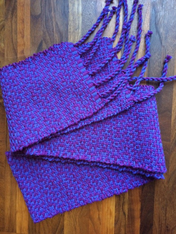 Handwoven purple and violet scarf