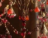 A Red Heart Sunshower Chandelier