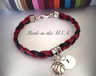 Basketball bracelet Sports jewelry Charm bracelet Friendship bracelet Basketball jewelry Sport team jewelry Best Friend bracelet BFF gift