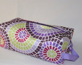 Purple Mosaic Sweater Bag