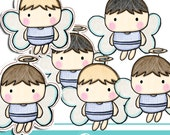 Crayon little baby boy clipart - COMMERCIAL USE OK